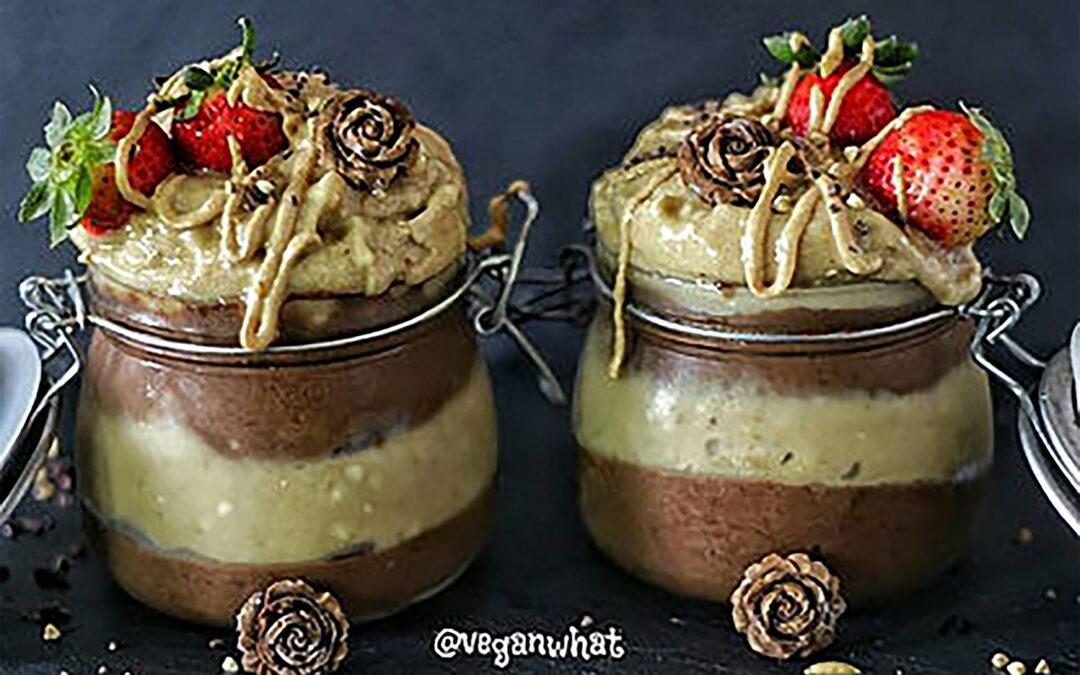 Carob Chocolate & Peanut Butter Banana Ice Cream