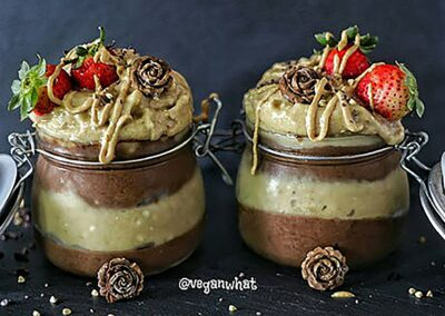 Carob Chocolate & Peanut Butter Banana Ice Cream